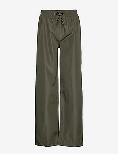 Solid Maggie Rain Pants - wide leg trousers - army green
