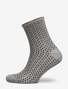 Dina Small Dots - chaussettes - opal gray