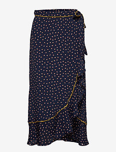 Calista Dots - midinederdele - classic navy