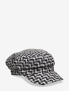 Zig Zag Mock Hat - BLACK