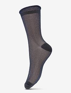 Dagmar Transparent - socks - blue nights
