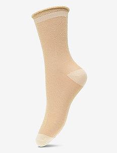 Dagmar Transparent - socks - yellow iris