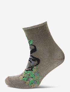 Dina Holly - socks - grass green