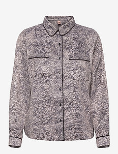 Animal Rosy Shirt - long-sleeved shirts - beige
