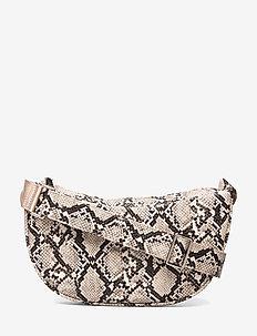 Snake Moon Bag - shoulder bags - beige