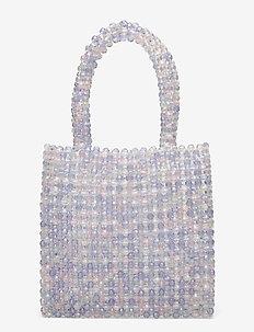 Bead Bag - top handle - light blue