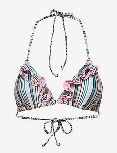 Stria 2Frill Bikini Top - GREEN