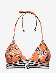 Sylvia Elastic Bikini Top - ORANGE