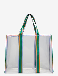 Matria Graphic Tote - shoppers - clear green