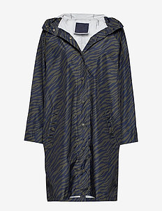 Zebra Magpie Raincoat - ARMY GREEN