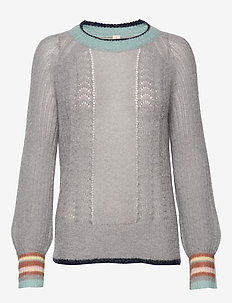 Solid Grace Sweater - GREY MELANGE