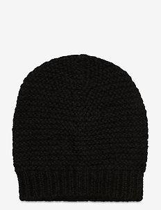 Jade Wool Mix Beanie - beanies - black