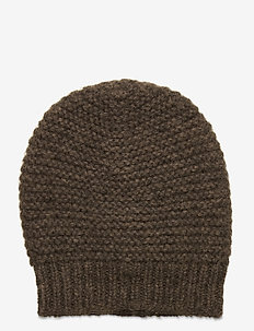 Jade Wool Mix Beanie - beanies - melange brown