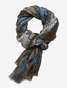 Sigrid Snake Scarf - BLUE