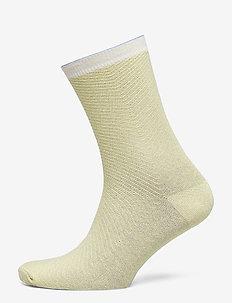 Dana Herringbone Frill Sock - YELLOW