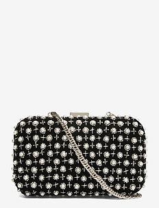 Violet Box Bag - clutches - black