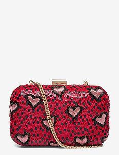 Kati Box Bag - clutches - red