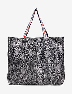Snakey Foldable Bag - GREY