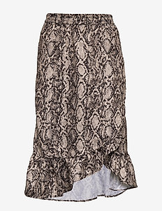 Snakey Chleo Skirt - GREY