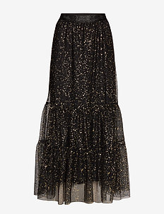 Paint Dot Nynne Skirt - BLACK