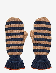 Simply Stripes Emerald Mittens - BROWNISH