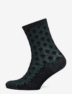 Delilah Diamons Sock - socks - darkest green