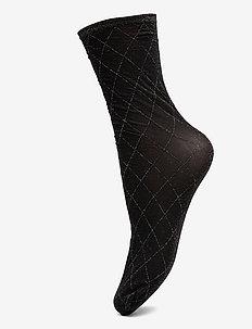 Dagmar Harlequin Sock - sokker - black