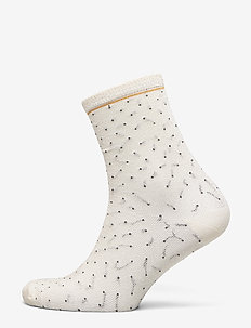 Darsi Shiny Dots Sock - OFF WHITE