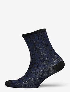 Delilah Lace Sock - socks - navy blue