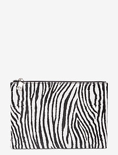 Zebra Lyralla Purse - WHITE