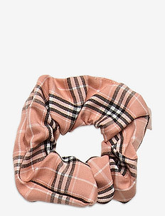Check Scrunchie Elastic - hår accessories - light beige