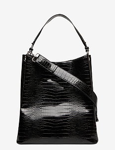 Solid Kayna Bag - top-handle - black