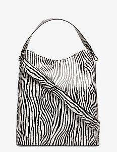 Zebra Kayna Bag - top-handle - white