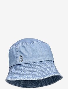 Denim Bucket Hat - bøttehatter - forever blue