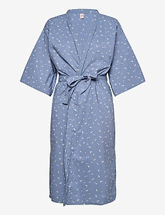 Tiny Flower Liberte Kimono - bathrobes - forever blue
