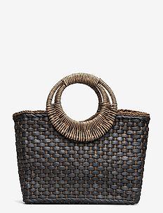 Ani Basket bag - top handle tasker - black