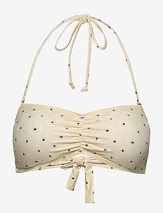 Prinia Bandeau Bikini - hauts de 2 pièces  - pastel yellow