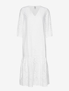 Anglaise Cecilie Dress - robes midi - white