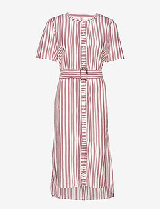 Striped Casey Long - midi kjoler - fruit pink