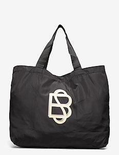 Solid Foldable Bag - shoppers - black