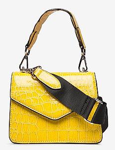 Solid Kelliy Bag - top handle tasker - sunny lime