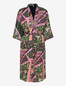 Flowerwhirl Kimono Dress - kimonos - multi col.