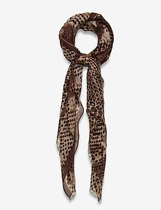 Russel Siw Scarf - scarves - brownish