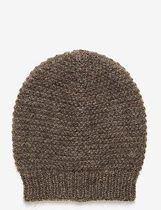 Jade Beanie - kapelusze - melange brown