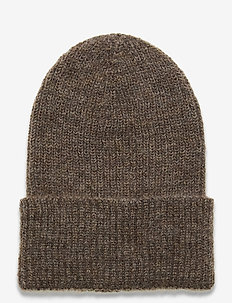 Jadia Beanie - hats - melange brown