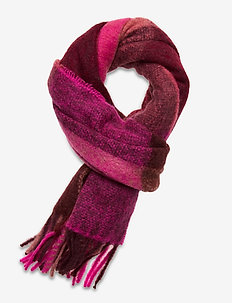 Check Ingria Scarf - scarves - pink