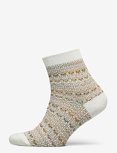 Multicolour Athena Sock - nilkkasukat - white