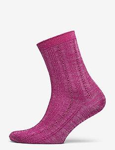 Glitter Drake Sock - socks - rose violet