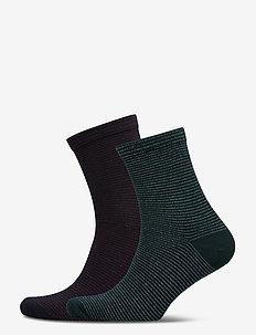 Dover Stripe Sock - socks - darkest spruce