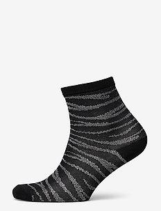 Zebra Glitzi Sock - socks - black